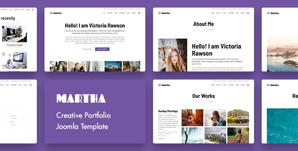 Martha | Creative Portfolio Joomla Template