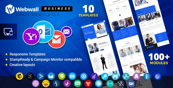 Webwall - Business Responsive Email Newsletter - V14 - Newsletters Email Templates