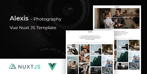 Alexis - Photography Vue Nuxt JS Template