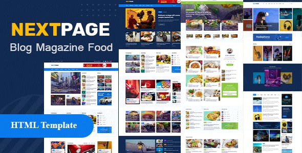 Nextpage - Newspaper,  Magazine , Food HTML Template