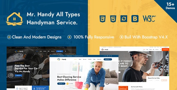 MrHandy – Handyman Multi-Services HTML Template - Business Corporate