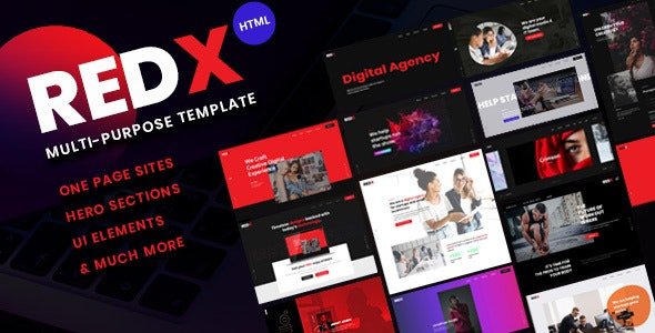 RedX - Multipurpose HTML Site Template - Technology Site Templates