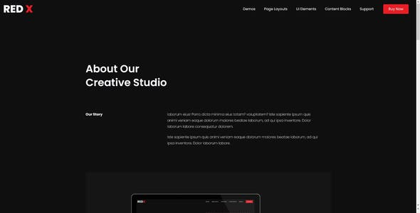 RedX - Multipurpose HTML Site Template