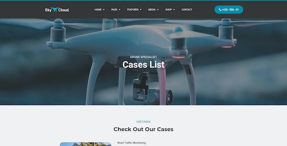 Sky&Cloud - Drone Aerial Photography & Videography Elementor Template Kit