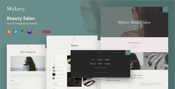 Mykery - Beauty Salon Vue JS Template - Health & Beauty Retail