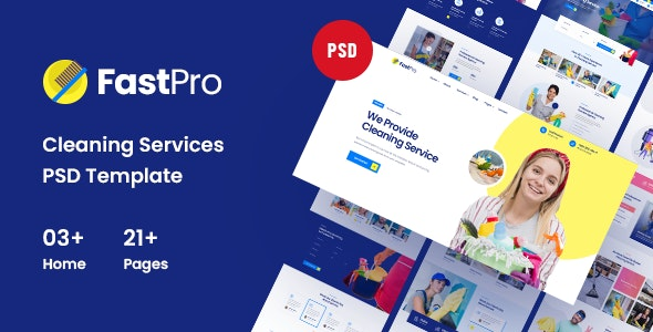 FastPro - Cleaning Services PSD Template - Business Corporate