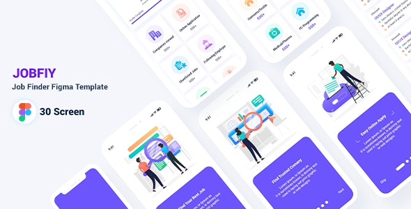 Jobfiy - Job Finder Figma Template - Figma UI Templates
