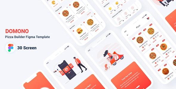 Domono - Pizza Builder Figma Template - Restaurants & Cafes Entertainment