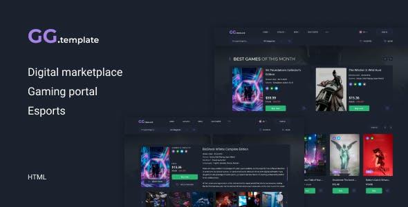 GoGame – Digital marketplace HTML Template