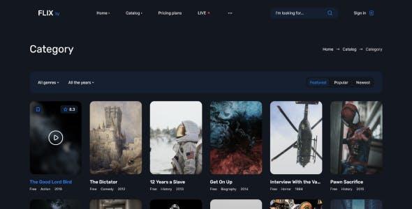 FlixTV – Movies & TV Shows, Online cinema HTML Template