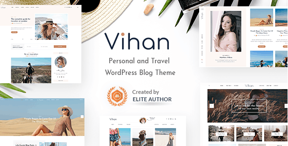 Vihan | Personal & Travel WordPress Blog Theme