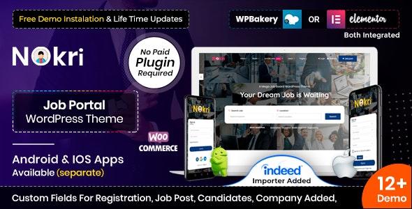 Nokri - Job Board WordPress Theme - Directory & Listings Corporate