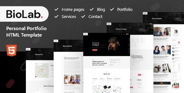 BioLab - Personal Portfolio, CV Html Template - Portfolio Creative