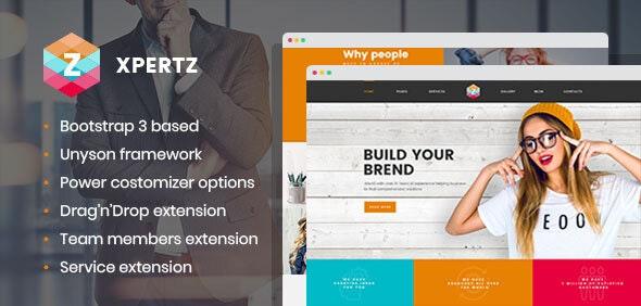 XpertZ - Corporate Multipage WordPress theme - Business Corporate