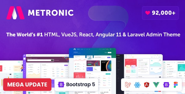 Metronic - Bootstrap 4/5 HTML, VueJS, React, Angular 11 & Laravel Admin Dashboard Theme - Admin Templates Site Templates