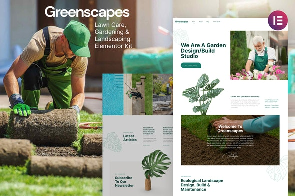 Greenscapes – Gardening & Landscaping Lawn Care Elementor Template Kit - Business & Services Elementor