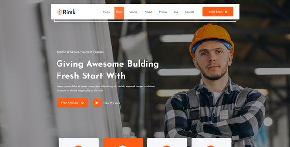 Rimk-Construction PSD Template