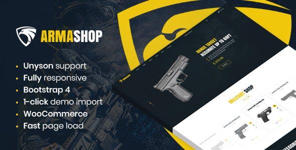 Armashop - Guns and Ammo WooCommerce theme