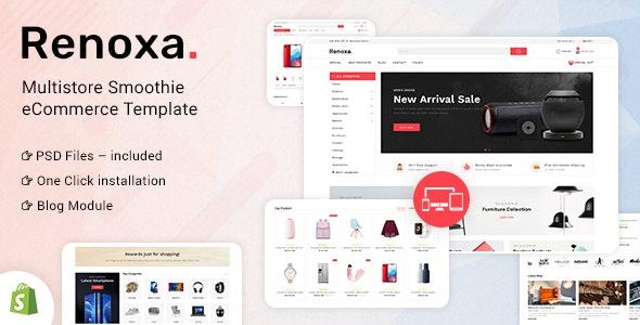 Renoxa Multipurpose E-commerce Shopify Template - Shopping Shopify