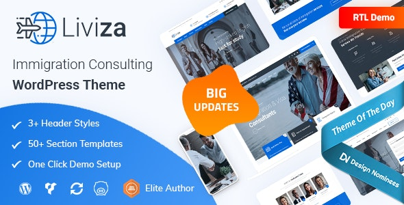 Liviza - Immigration Consulting WordPress Theme - Business Corporate