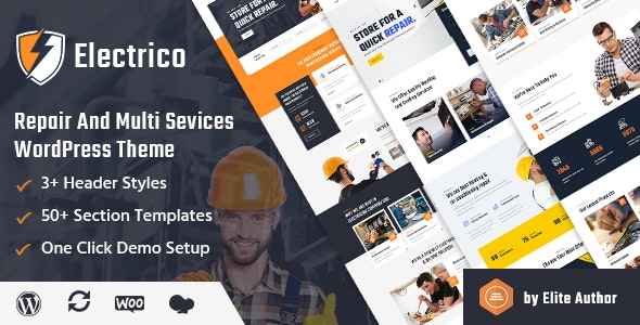 Electrico - Repair and Multi Services WordPress Theme - Business Corporate
