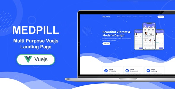 Medpill - Bootstrap 4 Vue Js Multi Purpose One/Multi Pages Template - Software Technology