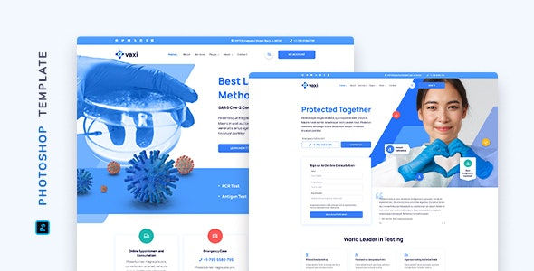 Vaxi – COVID Vaccination Template for Photoshop - Miscellaneous Photoshop