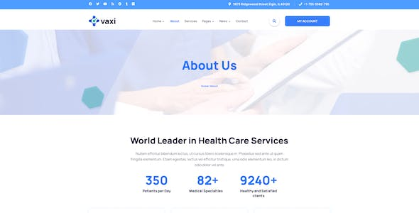 Vaxi – COVID Vaccination Template for Photoshop