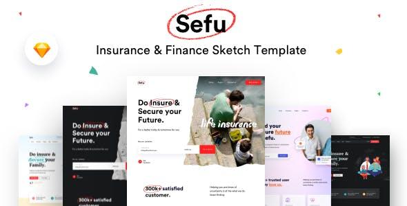 Sefu - Insurance & Finance Sketch Template