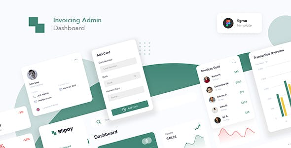 Invoicing Admin Dashboard Figma