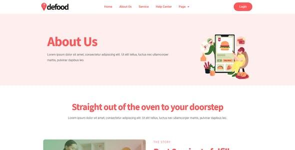 DeFood - Food Delivery Elementor Template Kit