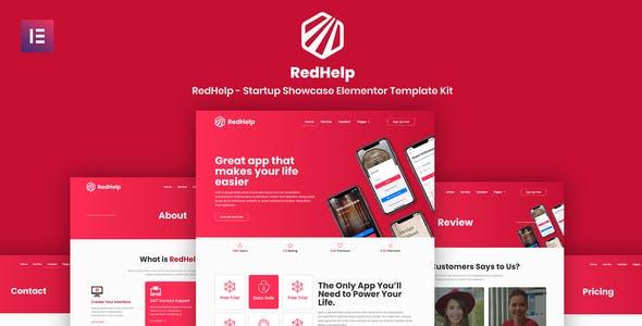 RedHelp - Startup Showcase Elementor Template Kit