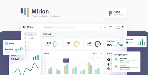Mirion - Simple Professional Admin Dashboard Figma Template - Miscellaneous Figma