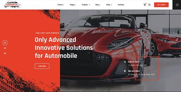 Carbonick - Auto Services & Repair WordPress Theme