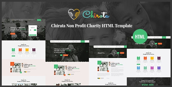 Chirota - Non Profit Charity HTML Template - Nonprofit Site Templates