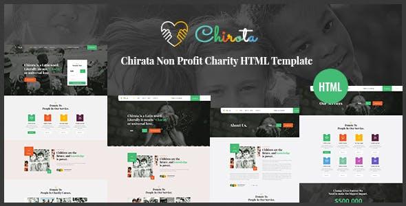 Chirota - Non Profit Charity HTML Template