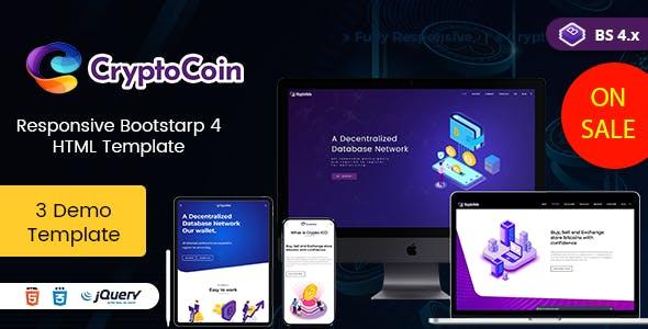 Cryptoico - ICO Bitcoin & Cryptocurrency HTML Template