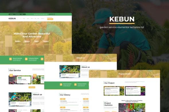 Kebun - Garden Service Elementor Template Kit - Business & Services Elementor