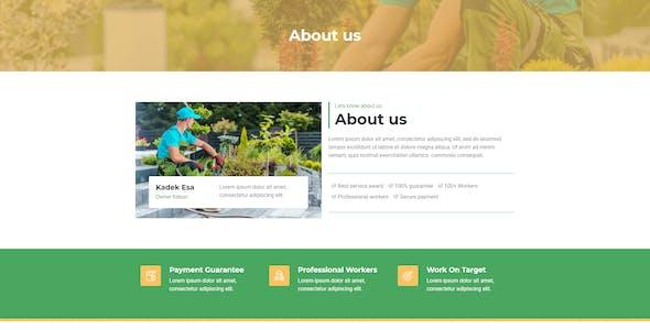 Kebun - Garden Service Elementor Template Kit
