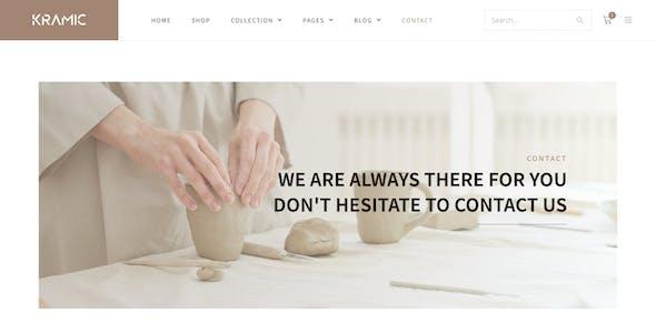Kramic – Pottery & Ceramic Store WooCommerce Elementor Template Kit
