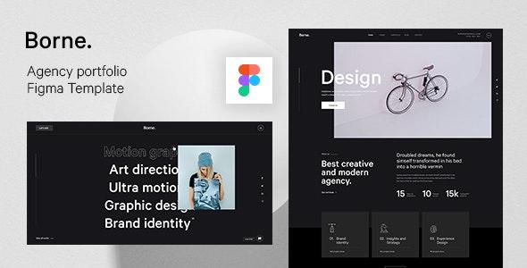 Borne - Agency portfolio Figma Template - Portfolio Creative