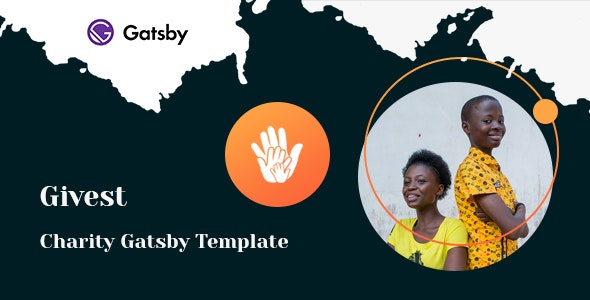 Givest - Non Profit Gatsby Template - Charity Nonprofit