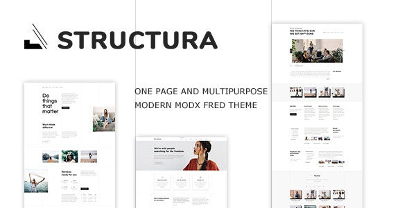 Structura - Minimal One Page MODX Fred Theme - MODX Themes CMS Themes