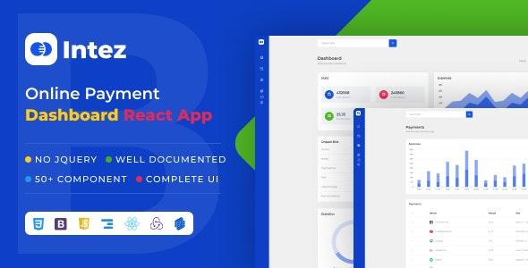 Intez - Payment Dashboard React App - Admin Templates Site Templates