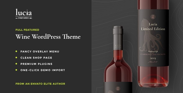 Lucia - Wine WordPress Theme - Retail WordPress