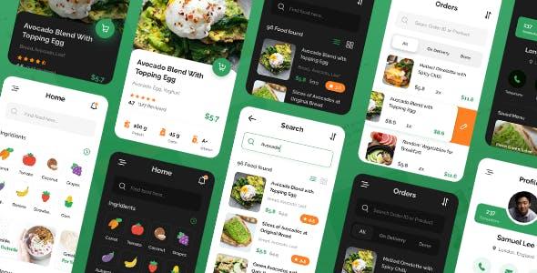 Sayur - Food Delivery Framework 7 Mobile App