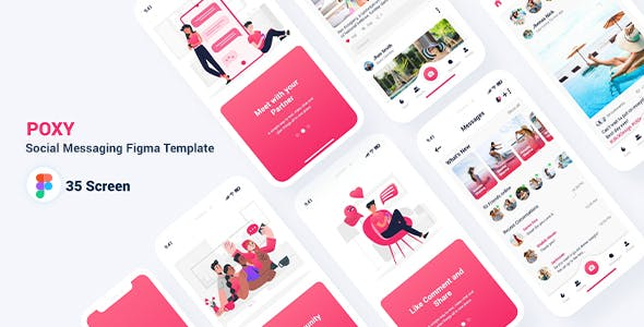 Poxy - Social Messaging Figma Template