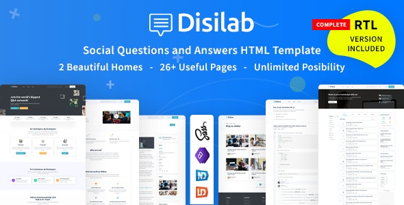 Disilab - Social Questions and Answers HTML5 Template - Site Templates