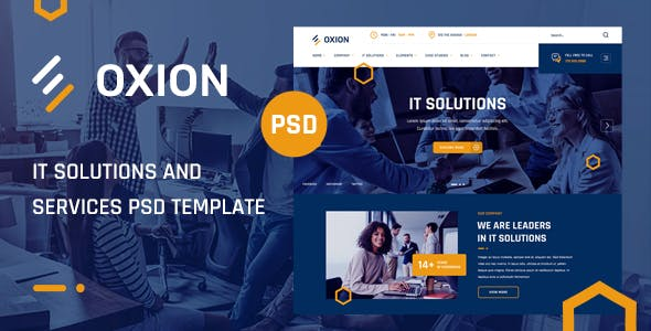 Oxion - IT Solutions and Services PSD Template