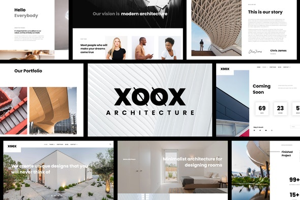XOOX - Architecture Agency Elementor Template Kit - Real Estate & Construction Elementor